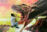 Lukisan 3D Di Lampung Walk
