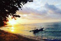 Matahari Terbenam Pantai Labuhan Jukung Lampung