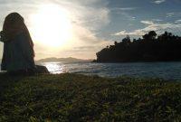 Matahari Terbenam Pantai Wartawan Lampung