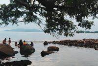 Suasana Wisata Pantai Wartawan Lampung