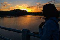 Sunset Bendungan Kamijoro Bantul