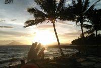Sunset Wisata Pantai Wartawan Lampung