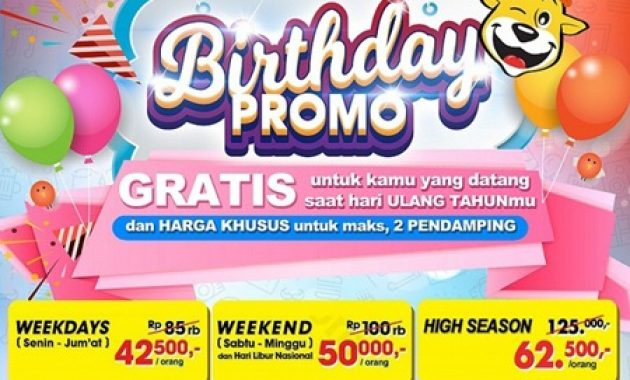 Birthday Promo The Jungle Waterpark Bogor